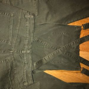 Kendall and Kylie army green denim overalls